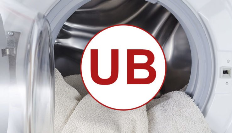 unbalanced load in the drum of a washing machine